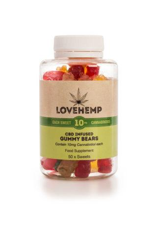 Love Hemp® CBD Gummy Bears – 10mg CBD per Bear