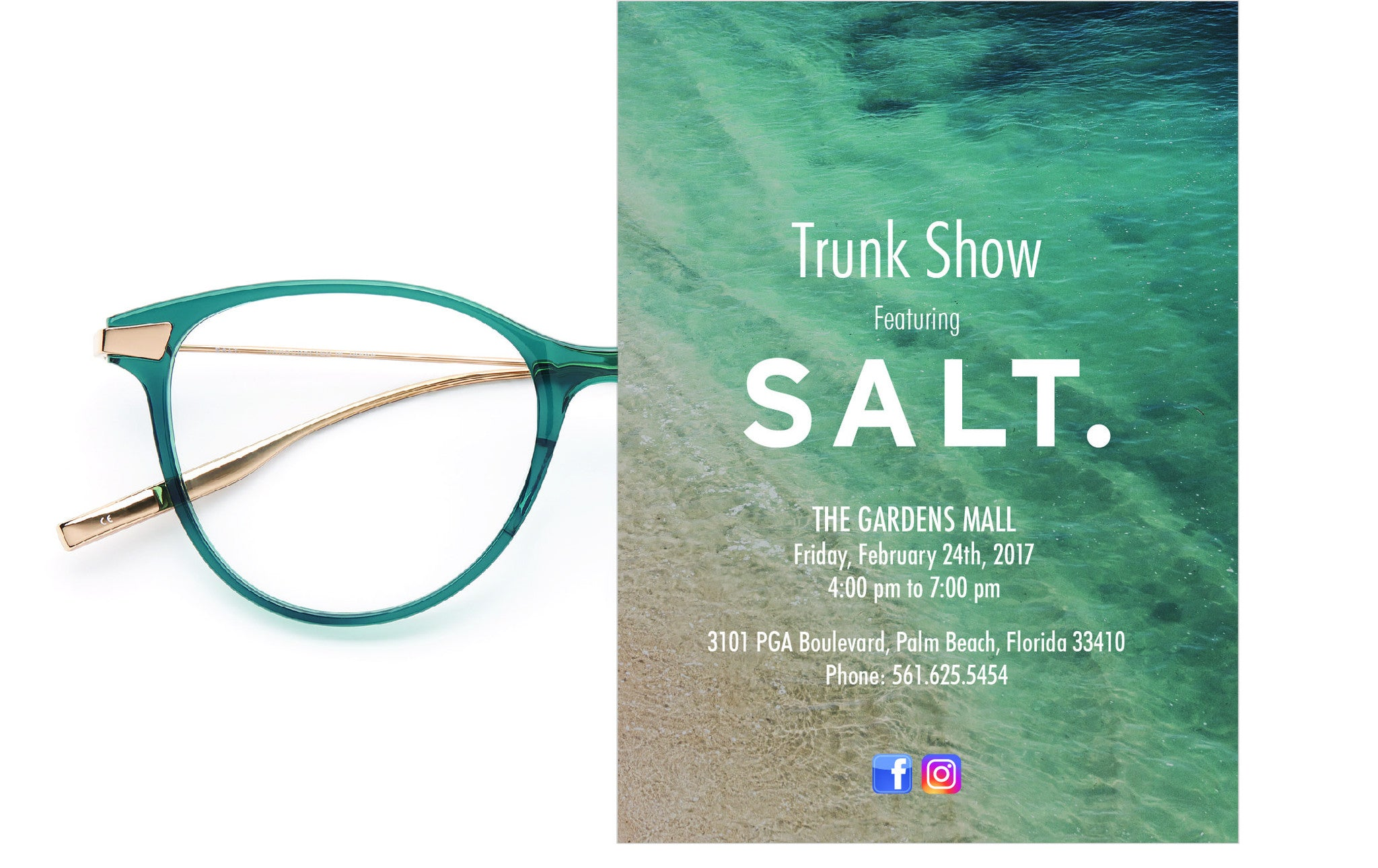 Salt trunk show this Friday at The Gardens Mall – Edward Beiner
