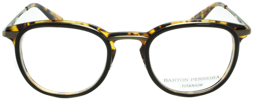 Barton Perreira-Shulman-BAT/ANG . Designer eyeglasses handmade in Japanese acetate, available exclusively at Edward Beiner fine eyewear boutiques. Front view.