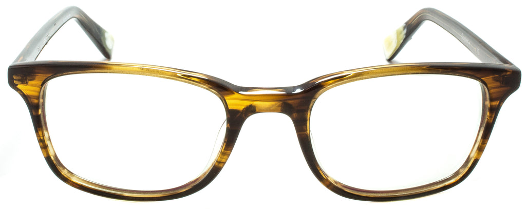 Edward Beiner Collection-Dogbert-999-10 - Amber Handmade in Germany by eyewear designer brand Edward Beiner, available exclusively at Edward Beiner Boutiques. Front view.
