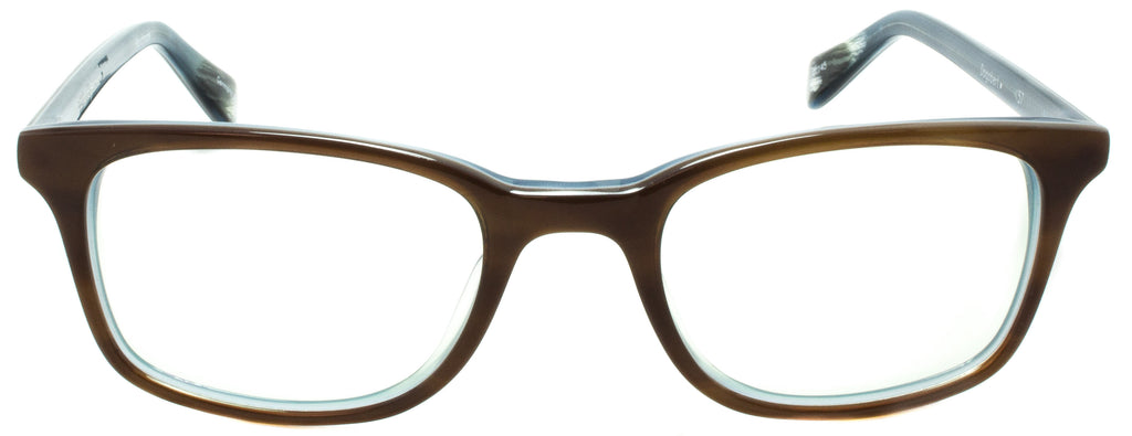 Dogbert-999-57 - Light brown / blue Handmade in Germany by eyewear designer brand Edward Beiner, available exclusively at Edward Beiner Boutiques. Front view.