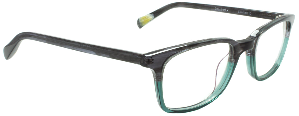 Edward Beiner Collection-Dogbert-999-Limited D - Grey/ Green Handmade in Germany by designer sunglasses brand Edward Beiner, available exclusively at Edward Beiner Boutiques. Side view.