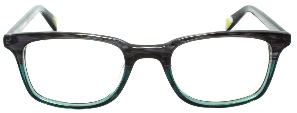 Edward Beiner Collection-Dogbert-999-Limited D - Grey/ Green Handmade in Germany by designer sunglasses brand Edward Beiner, available exclusively at Edward Beiner Boutiques. Front view.