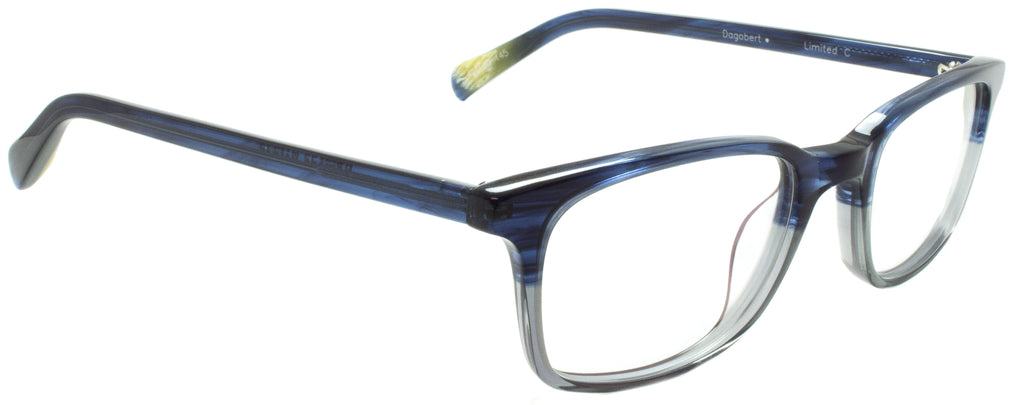 Edward Beiner Collection-Dogbert-999-Limited C - Grey / Blue Handmade in Germany by designer sunglasses brand Edward Beiner, available exclusively at Edward Beiner Boutiques. Side view