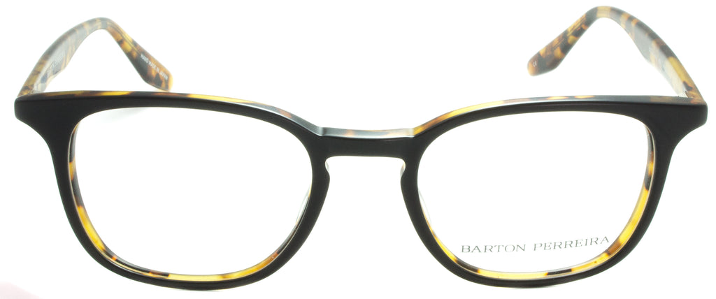 Barton Perreira Woody-MBT-Matte Black Tortoise Titanium. Diamond Pressed accents. Designer sunglasses handmade in Japan available at Edward Beiner fine eyewear boutiques. Front view.