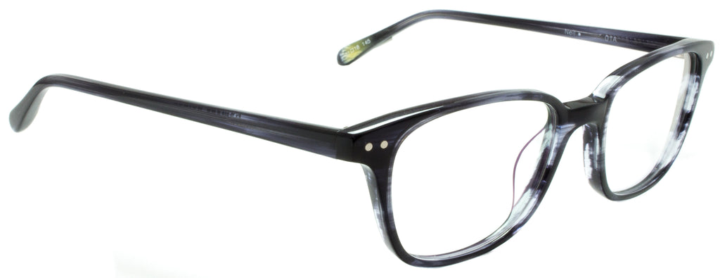 Edward Beiner Collection-Neil-999-01A - Blue . Side view. Handmade in Germany. Optical eyeglasses available exclusively at Edward Beiner Boutiques.