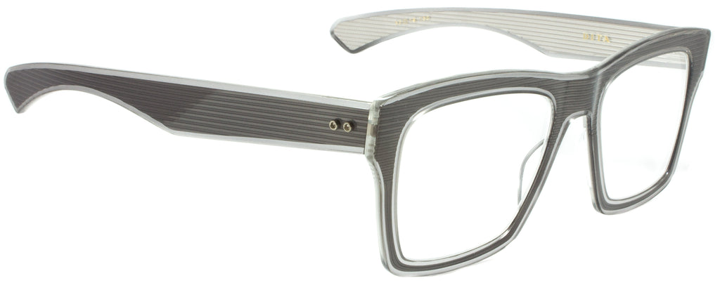 Dita-Insider Two Ophth.-DRX-2090-C-GRY-52-GREY/CLEAR. Side view. Designer eyewear available exclusively at Edward Beiner Boutiques.
