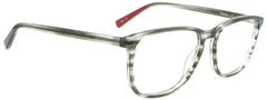 Edward Beiner Collection-Raymond-999-542 - Slate Grey . Side view. Handmade in Germany. Designer eyeglasses with clip on sunglasses available exclusively at Edward Beiner Boutiques.