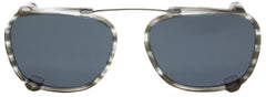 Edward Beiner Collection-Raymond-999-542 - Slate Grey . Front view. Handmade in Germany. Designer eyeglasses with clip on sunglasses available exclusively at Edward Beiner Boutiques.