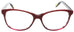 Edward Beiner Collection-Odette-999-1010 - Burgandy . Front view. Handmade in Germany. Designer eyeglasses available exclusively at Edward Beiner Boutiques.