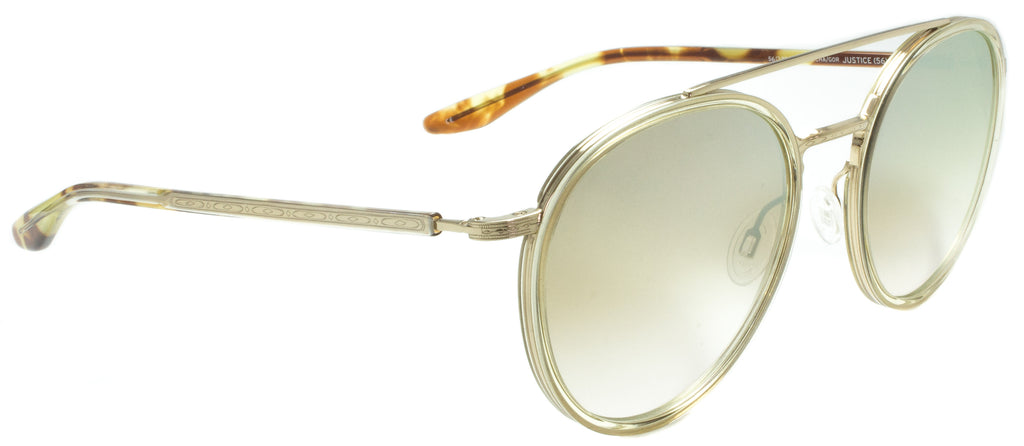 Barton Perreira-Justice-GOL/CHA/GOR  Side view. Designer eyewear available exclusively at Edward Beiner Boutiques.