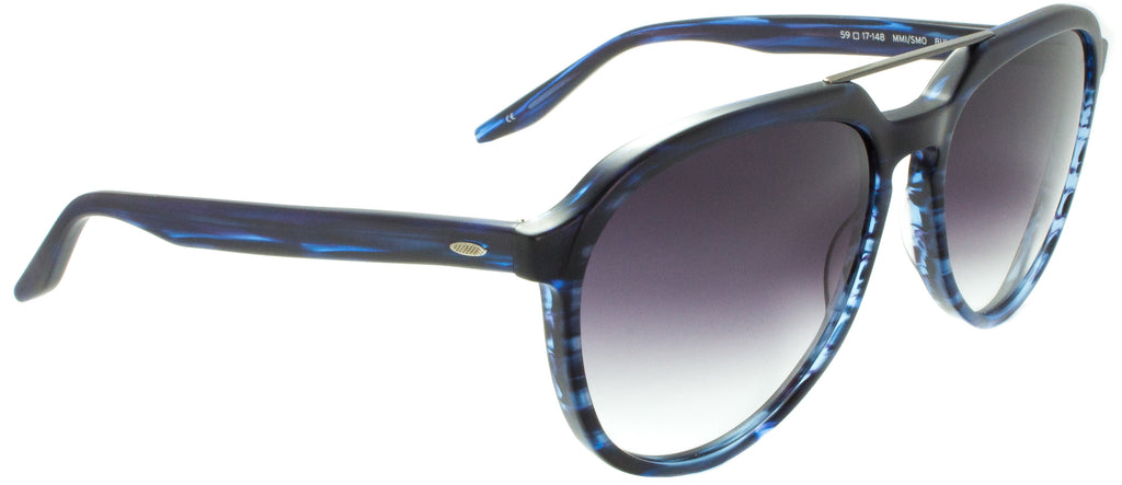 Bulger-MMI/SMO-Matte Blue Gradient Gray by eyewear designer Barton Perreira available at Edward Beiner Boutiques, side view