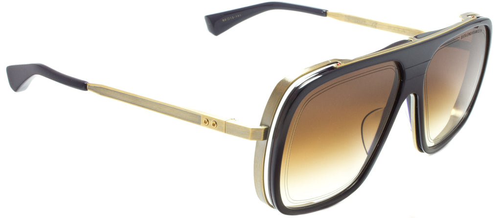 Dita-Endurance 79-DTS104-60-03-NAVY/ GOLD sunglasses by eyewear designer Dita. Side view.