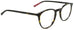 Edward Beiner Collection-Ray-999-502 - Tortoise . Side view. Designer eyeglasses with clip on sunglasses available exclusively at Edward Beiner Boutiques.