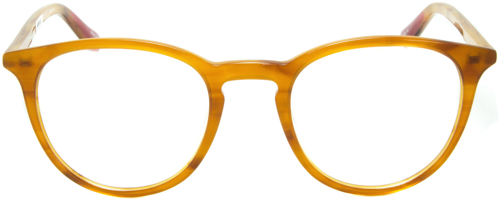 . Front view. Designer eyeglasses with clip on sunglasses available exclusively at Edward Beiner Boutiques.