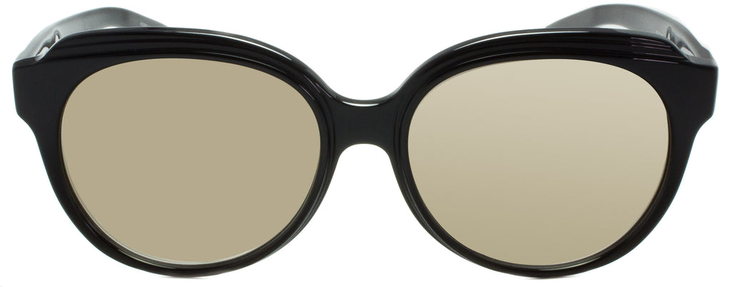 Barton Perreira Marvalette BLA/GOM. Front view. Barton Perreira designer sunglasses available at Edward Beiner Boutiques.
