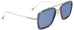 Dita-Flight 007-7806-A Gunmetal/ Blue sunglasses handmade in Italy by eyewear designer Dita, available at Edward Beiner Boutiques. Side view.