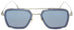 Dita-Flight 007-7806-A Gunmetal/ Blue sunglasses handmade in Italy by eyewear designer Dita, available at Edward Beiner Boutiques.