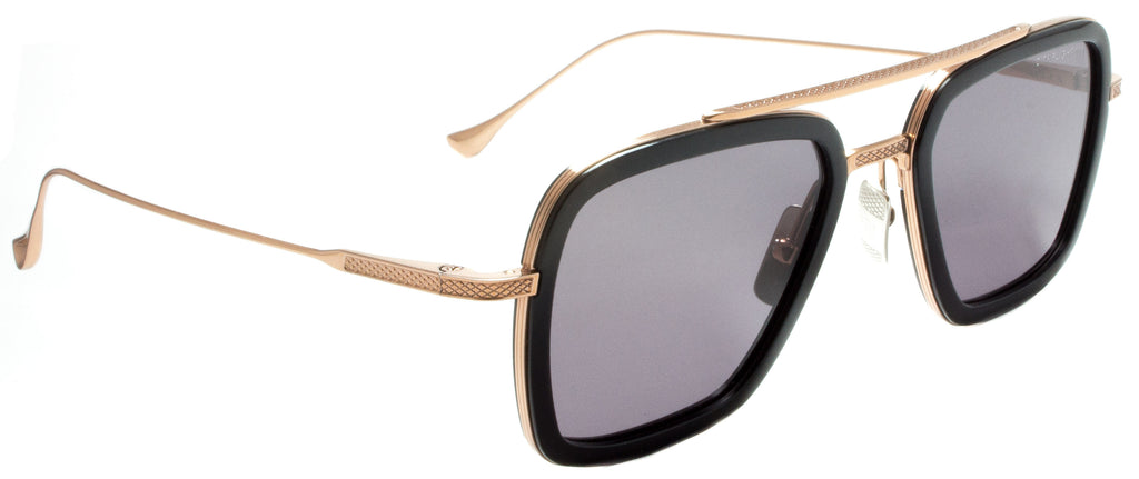 Dita-Flight 006-7806-E-Rose Gold / Back sunglasses handmade in Italy by eyewear designer Dita, available at Edward Beiner Boutiques. side view.