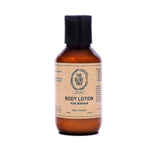 natural rose geranium body lotion travel size trial size sulphates free parabens free