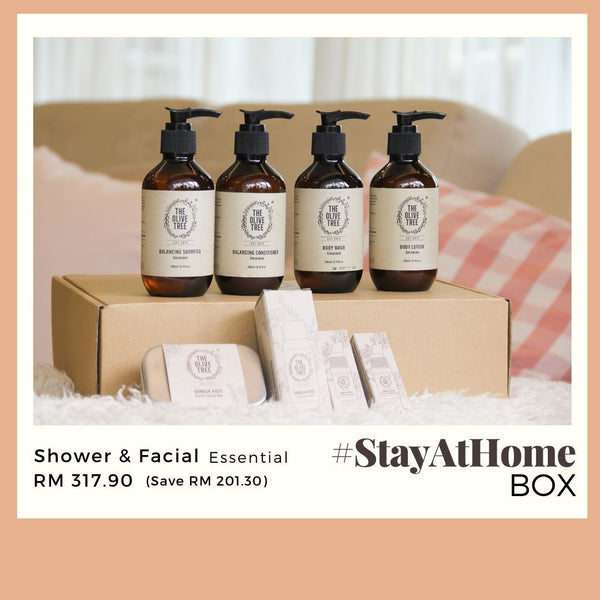 Shower & Facial Essential Set - #StayAtHome Box