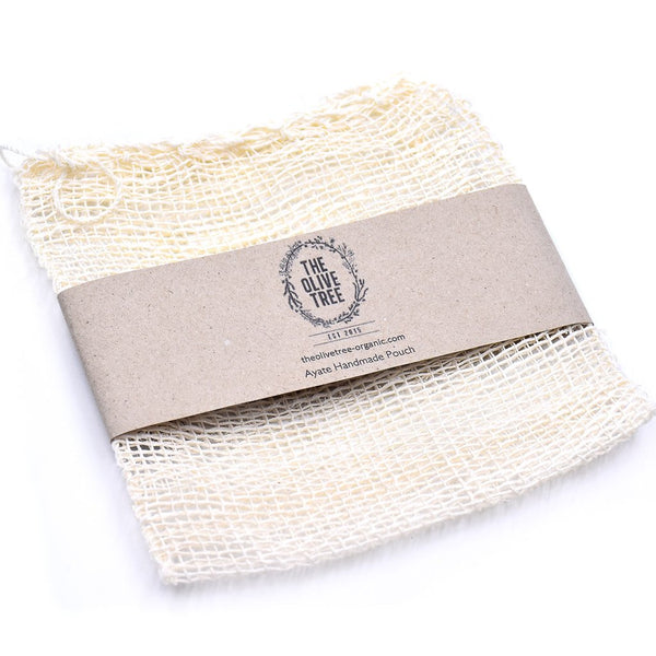 biodegradable handmade ayate pouch soap net bath soak pouch potpourri pouch made from agave fabric