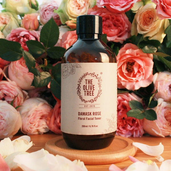 damask rose natural toner rose flower extract for all skin types sensitive skin acne combination eczema psoriasis