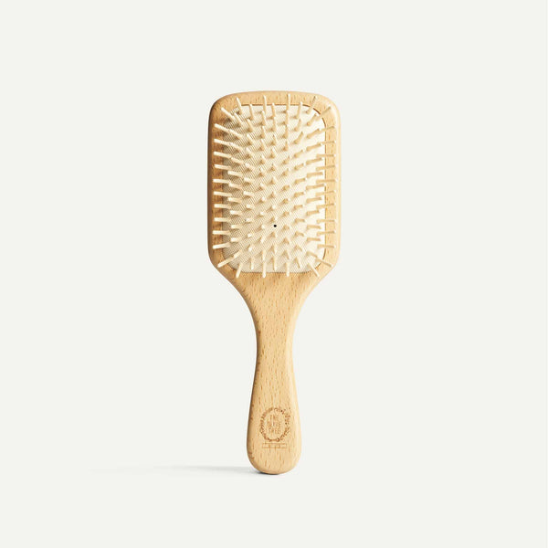 The Olive Tree Wooden Rectangle Hair Brush