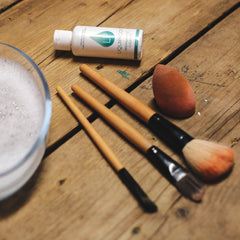 Liquiproof Eco cleaner used to treat dirty make up brushes