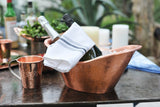 Copper Oval Ice Bucket