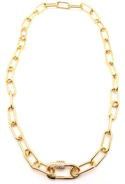 Gold Filled Paper Clip Chain Necklace