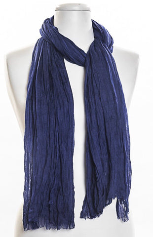 Big Solid Navy Scarf