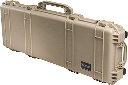 1700 Long Hard Case Blk W/Foam 35.75x13.5x5.25 3-Piece Solid Foam - Desert Tan