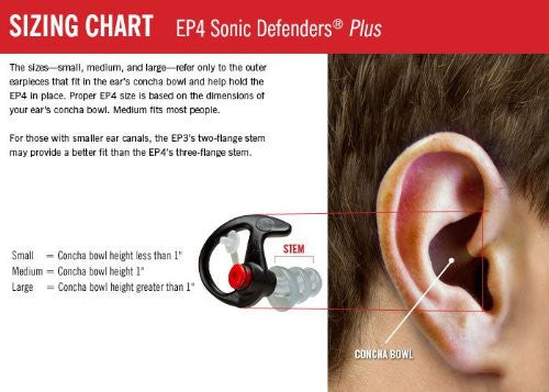 Surefire Sonic Defenders Ultra Filtered Foam Earplugs, Medium, Black