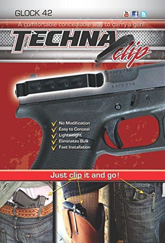 Techna Clip for Glock 42 - Ambidextrous - Conceal Carry Belt Clip