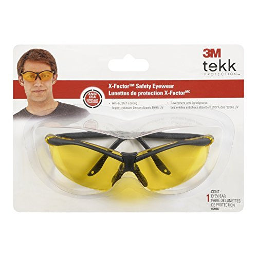 3M/Peltor, X-Factor Glasses, Black Frame, Yellow Lens