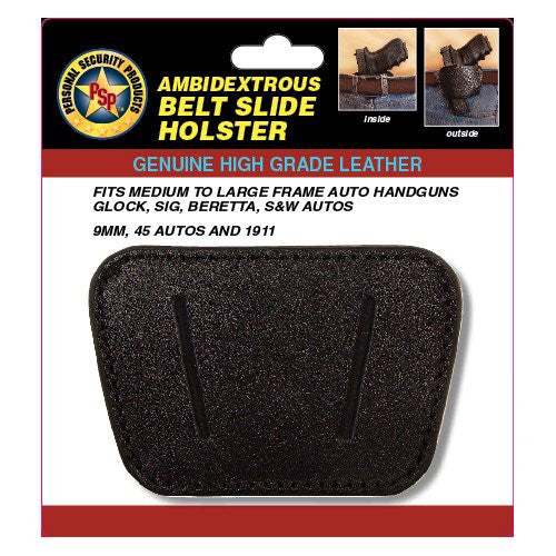 .22 - .380 cal Belt Slide Holster - Black