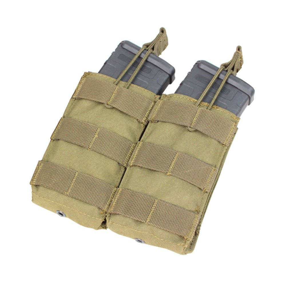 Condor MA19 Double Open Top M4/M16 Mag Pouch - Coyote Tan