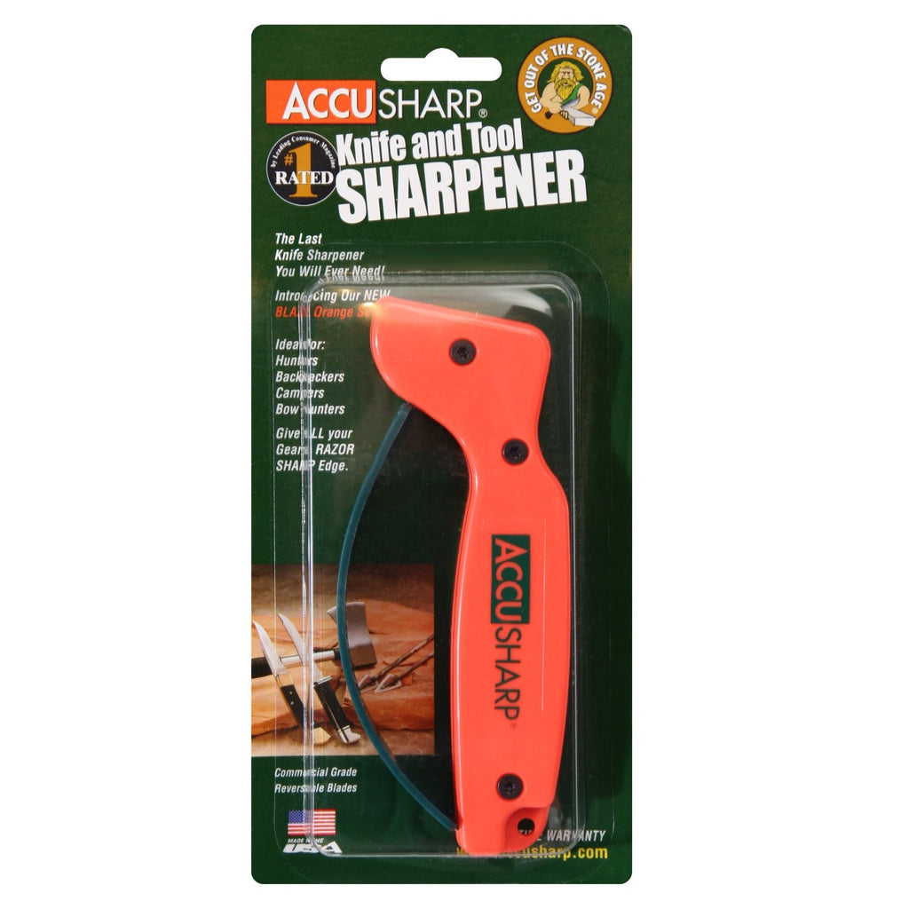 AccuSharp, Model 014, Blade Sharpener, Orange , Plastic