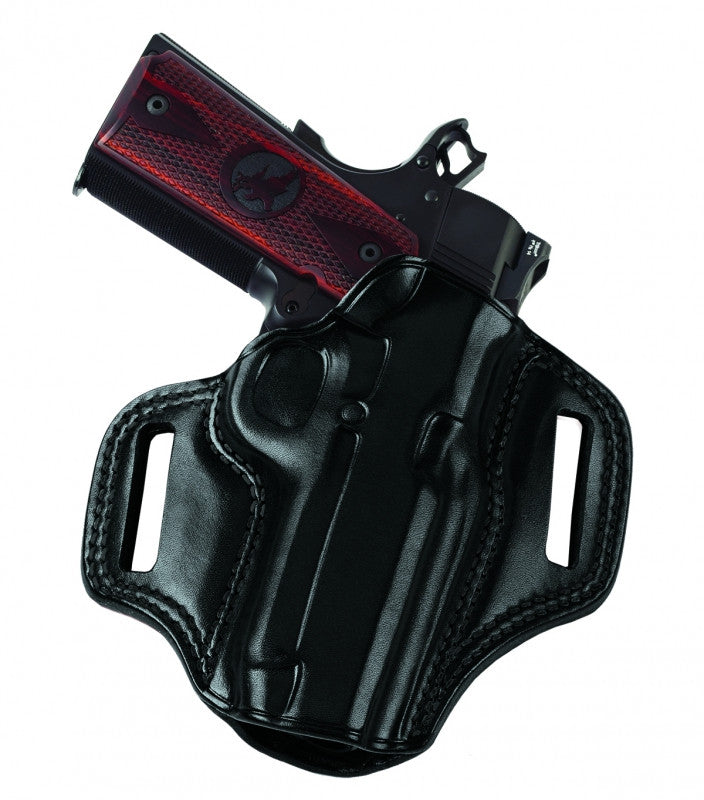 Galco Combat Master Belt Holster for 1911 5-Inch Colt, Kimber, Para, Springfield (Black, Right-hand)