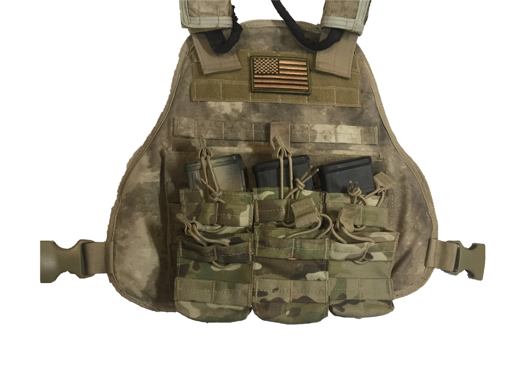 USA Flag Patch Comes w Velcro Backing & Multicam Colors - Stitching Lasts In Tough Environments & Velcro Attaches to Bags, Apparel, & More