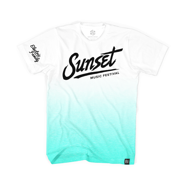 SMF Sunset Dip Dyed Electric Family x SMF Tee