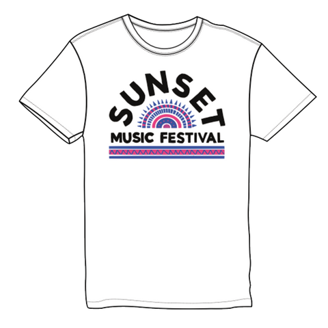 Mosaic Sunset Lineup T-Shirt