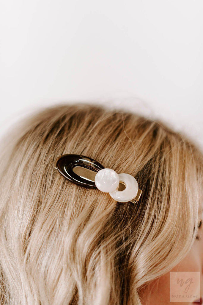 Acrylic Ribbon Hair Clip-Unclassified-Golden Stella-Nora Gray Boutique
