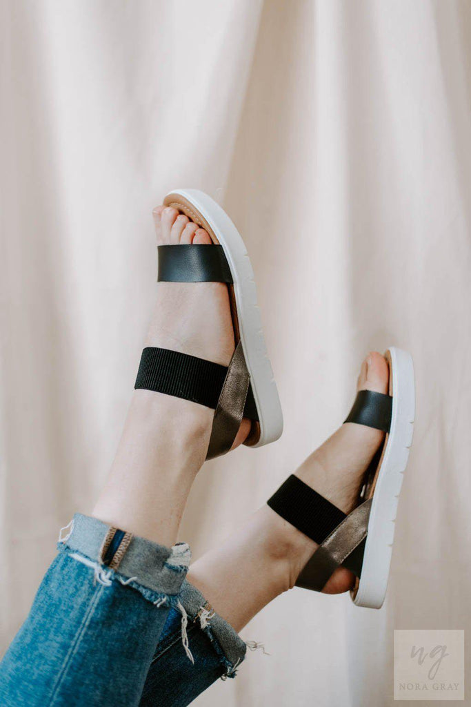 Blowfish Boss Sandals in Black-Nora Gray Boutique