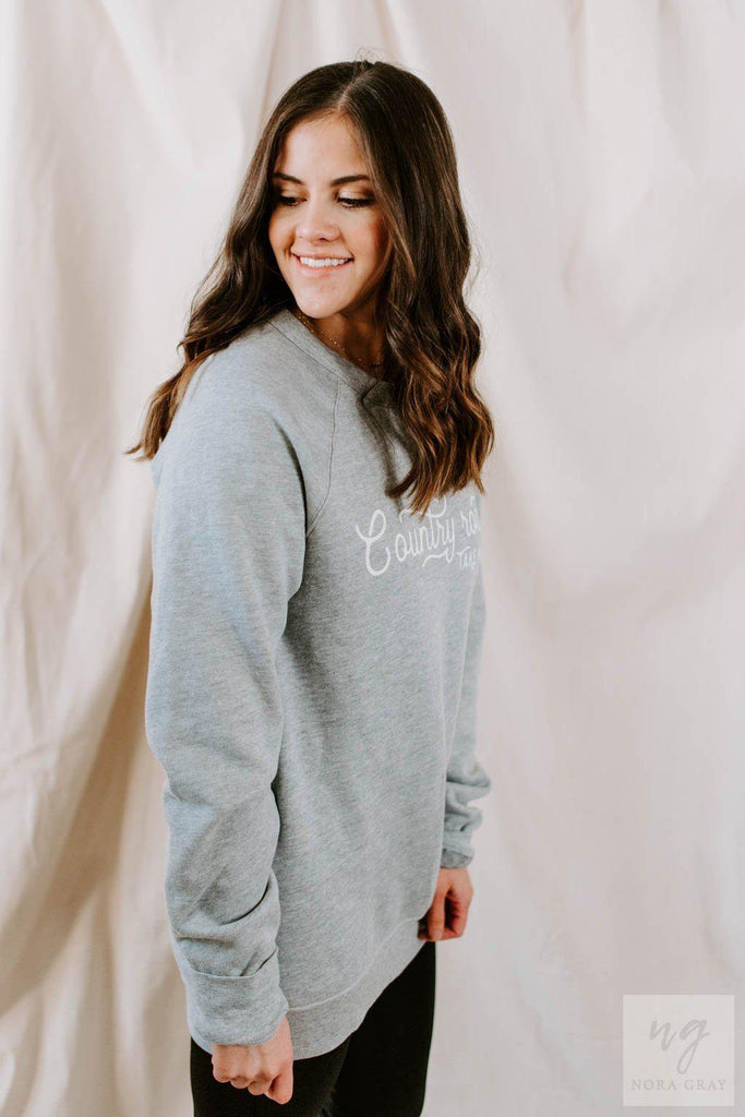 Country Roads Take Me Home Crewneck-Nora Gray Boutique