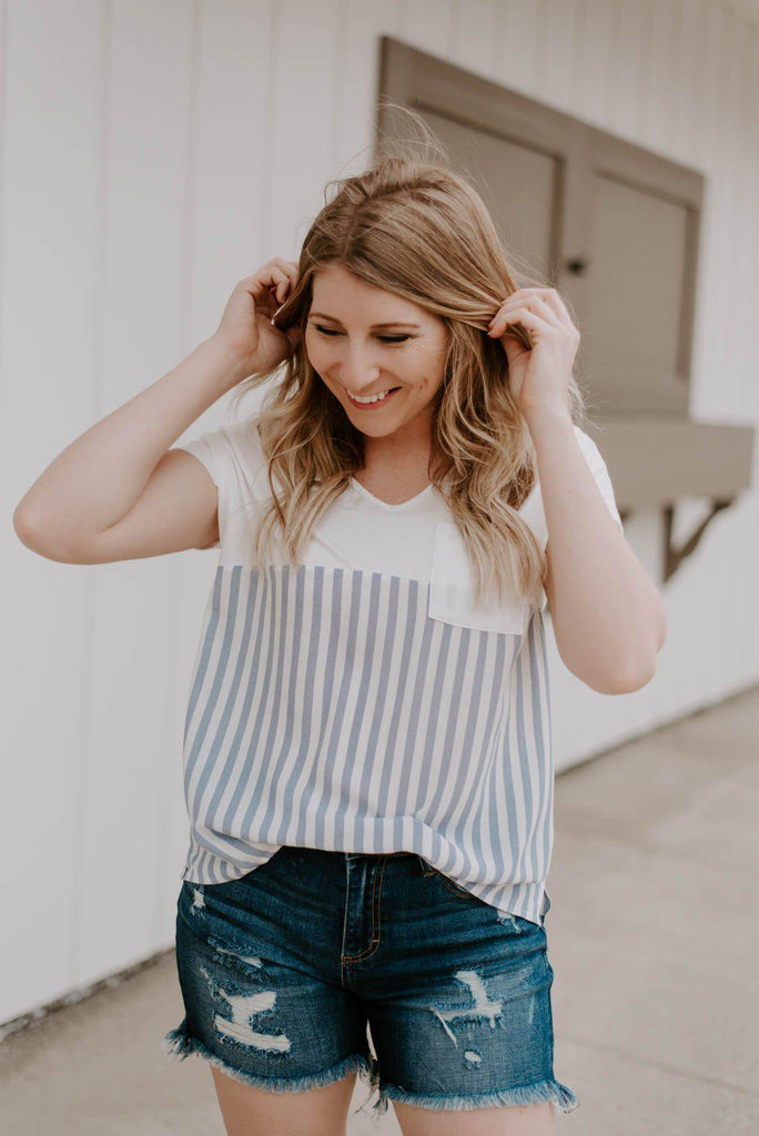 Daphne Oh So Darling Striped Top-Nora Gray Boutique