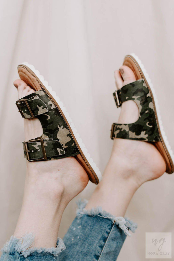 Diba True Comeback Leather Camo Sandals-Nora Gray Boutique