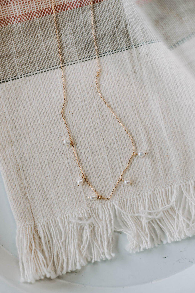 Gold Pearl Necklace-Nora Gray Boutique