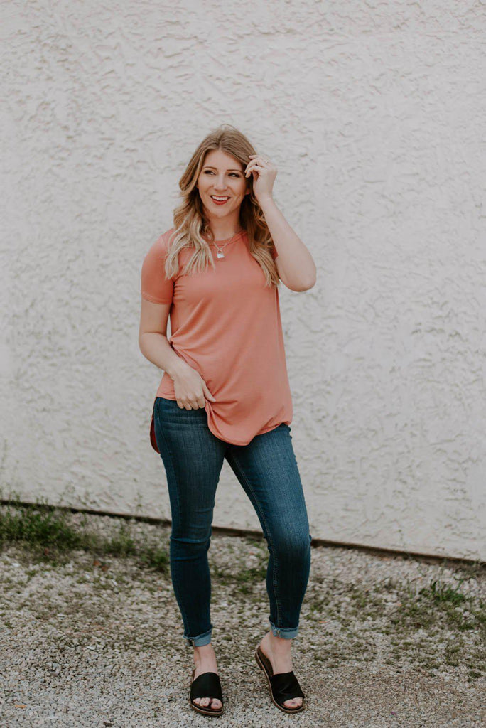Libby High-Low Basic Layering Top | 4 Colors-Nora Gray Boutique